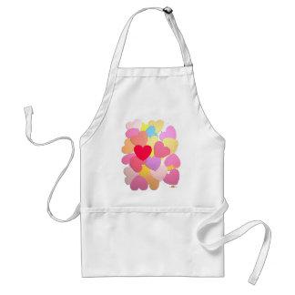 Confetti of hearts adult apron