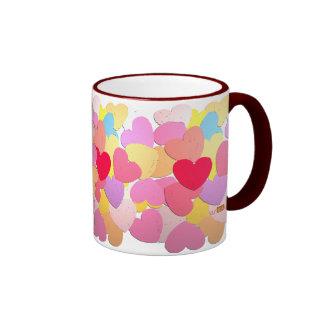 Confetti of hearts mug
