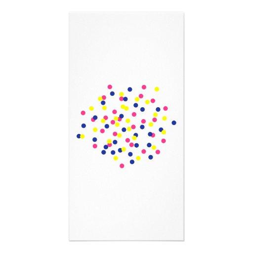 Confetti party customized photo card
