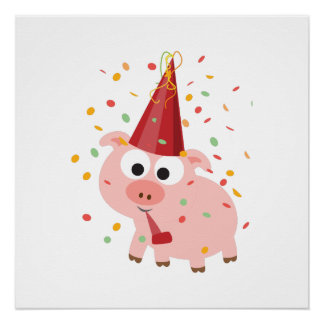 Confetti Party Pig