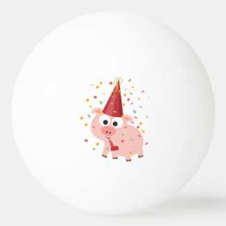 Confetti Party Pig Ping Pong Ball