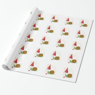 Confetti Party Snail Wrapping Paper