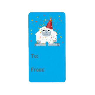 Confetti Party Yeti Address Label