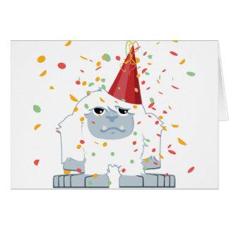 Confetti Party Yeti Note Card