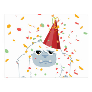 Confetti Party Yeti Postcard