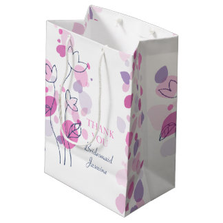 Confetti petals wedding Bridesmaid favor gift bag