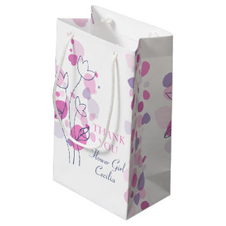 Confetti petals wedding flower girl favor gift bag
