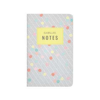 Confetti Pinstripe Notebook Journal