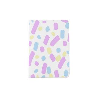 Confetti Print Abstract Design Passport Holder