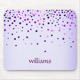 Confetti Purple Linen Glitter Girly Dots Mouse Mat