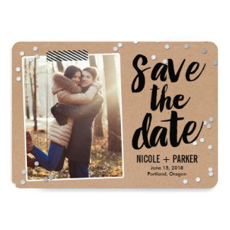 Confetti Save The Date Card