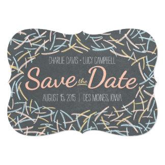 """Confetti Save The Date Card 5"""" X 7"""" Invitation Card"""