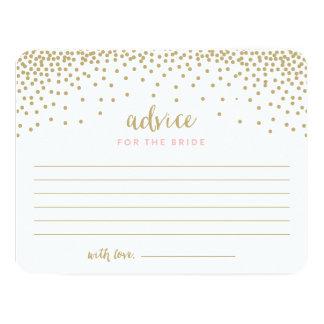 Confetti Shower | Bridal Shower Advice Cards 11 Cm X 14 Cm Invitation Card