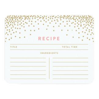 Confetti Shower | Recipe Cards
