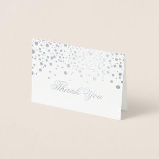Confetti Silver Foil Dots Thank You Foil Card