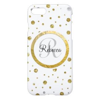 Confetti Silver/Gold Monogram iPhone 7 Case