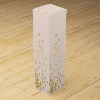 Confetti Skulls - champagne and gold Wine Box