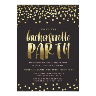 CONFETTI SPARKLE BACHELORETTE PARTY Invitation