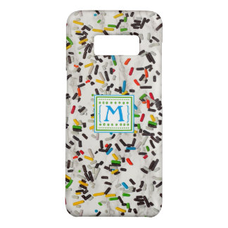 Confetti Sprinkles with Monogram Case-Mate Samsung Galaxy S8 Case