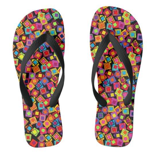 Confetti Squares Flip Flops