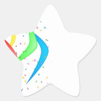 Confetti Star Sticker