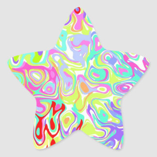 Confetti Star Stickers ~ custom to personalise!