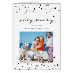Confetti Stars   Photo Holiday Greeting Card