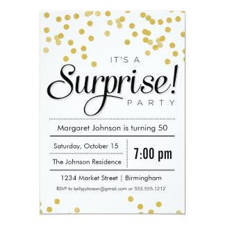 """Confetti Surprise Party Invitation 5"""" X 7"""" Invitation Card"""