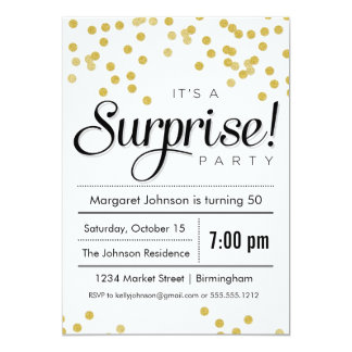 Surprise Party - Confetti Surprise Party Invitation