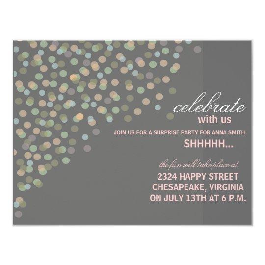 Confetti Themed Party Invitation