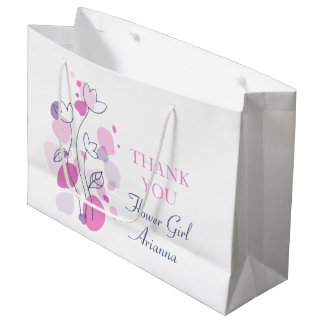 Confetti wedding flower girl favor large gift bag