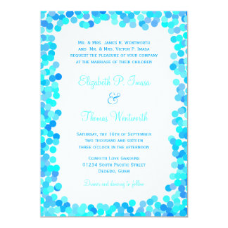 """Confetti Wedding Invitations 5"""" X 7"""" Invitation Card"""