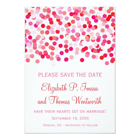 Confetti Wedding Save the Date Cards