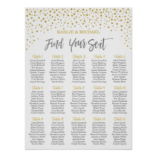 Confetti Wedding Seating Chart, Editable Color Poster