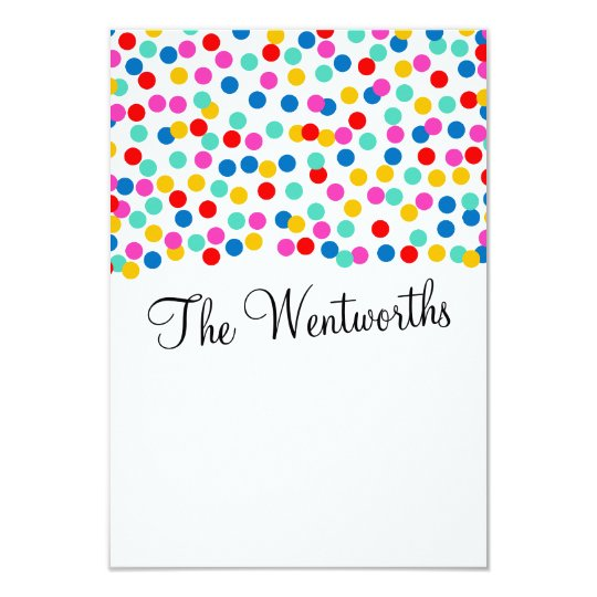 Confetti Wedding Thank You Cards