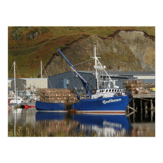 Confidence, Crab Boat in Dutch Harbour, AK Poster