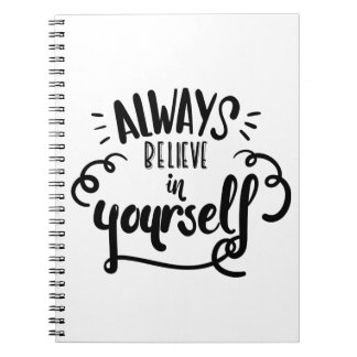 Confidence, Happiness Attitude Motivational Quote Notebook