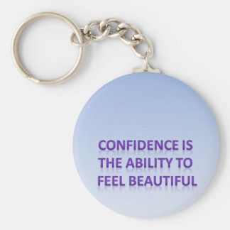 confidence is the ability to feel beautiful basic round button key ring