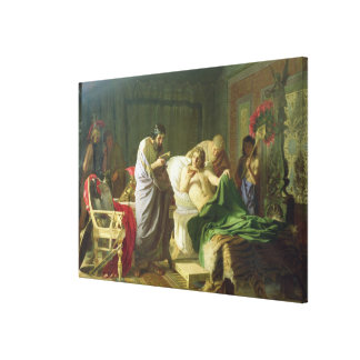 Confidence of Alexander the Great Canvas Print