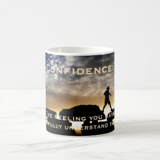 Confidence Original Hiking Photo Funny Coffee Mug