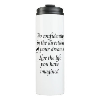 Confidence quote novelty saying kids or coworkers thermal tumbler