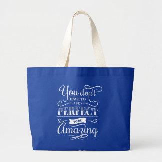 Confidence Success Attitude Life Goals Quote Large Tote Bag