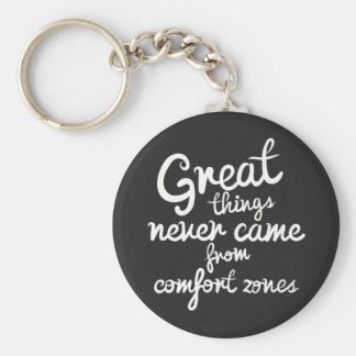 Confidence, Success, Goals Attitude Motivational Basic Round Button Key Ring