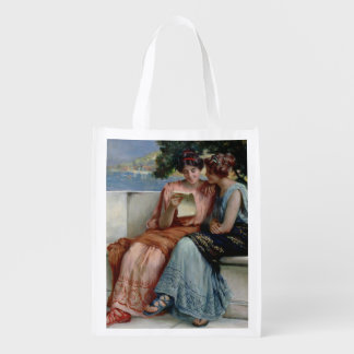 Confidences (oil on canvas) market totes