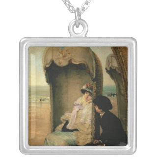 Confidences on the Beach, c.1883 Silver Plated Necklace