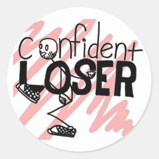 Confident Loser Logo Round Sticker