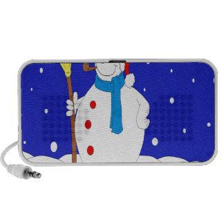Confident-Snow-Man-Scene Mp3 Speakers