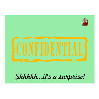 Confidential birthday surprise party invitation postcard