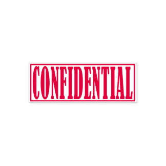 Confidential Business Office Framed Simple Word Self-inking Stamp