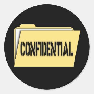 Confidential Folder With Paper Round Sticker